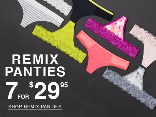 Remix panties. 7 for $29.95. Shop remix panties.